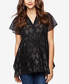 A Pea In The Pod Maternity Jacquard Blouse