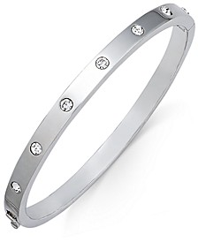 Bezel-Set Polished Bangle Bracelet