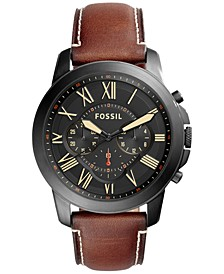 Men's Chronograph Grant Light Brown Leather Strap Watch 44mm FS5241