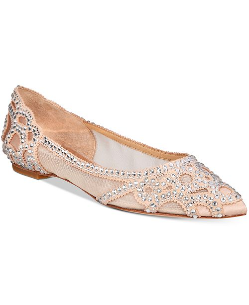 Badgley Mischka Gigi Pointed-Toe Evening Flats