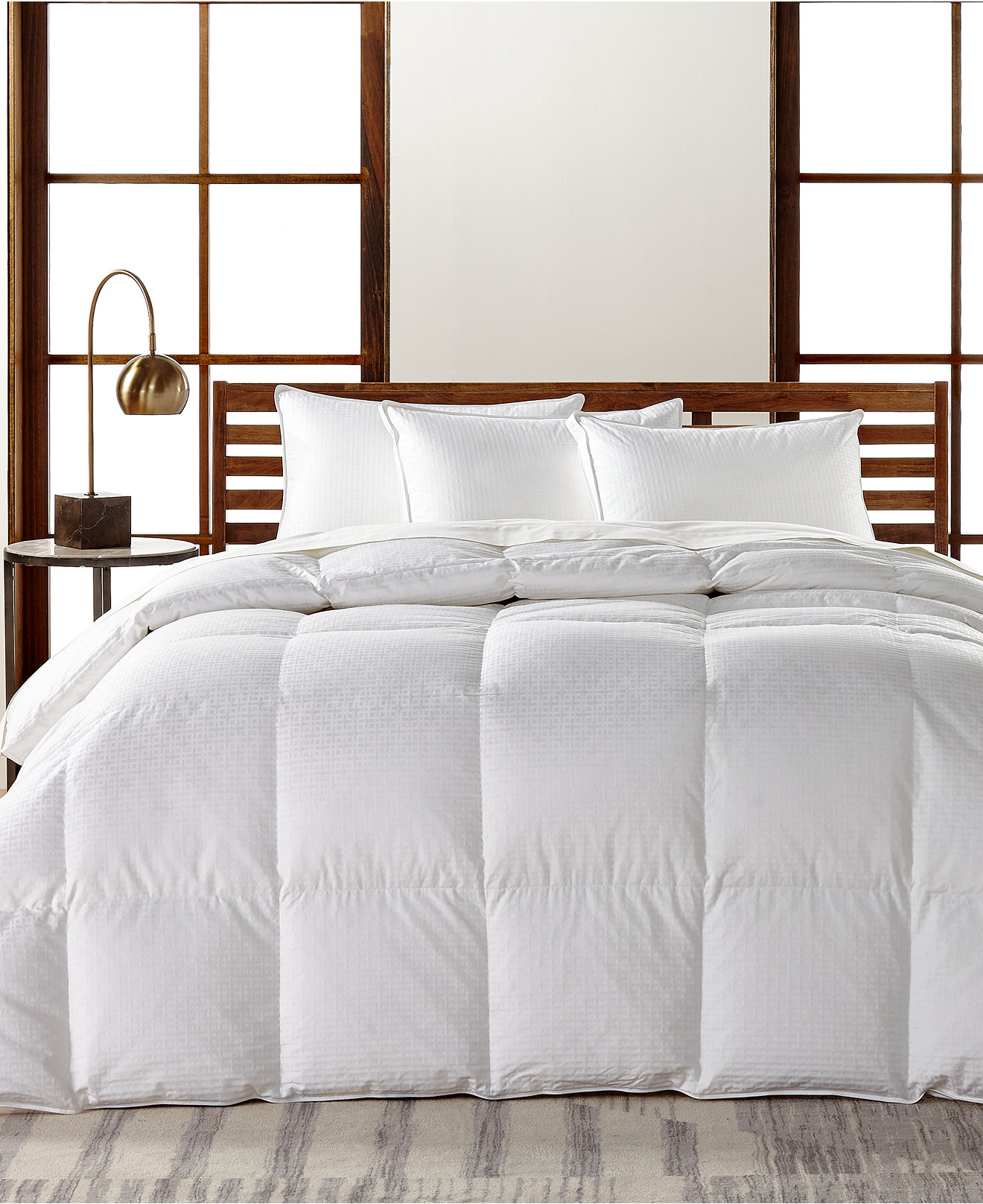 down comforters and down alternative  macy's - hotel collection european white goose down lightweight comfortershypoallergenic ultraclean down created for macy's