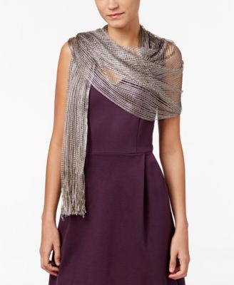 silver evening shawl shop for and buy silver evening shawl online Black Shawl Wrap i n c lurex metallic net evening wrap created for macy s