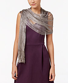 I.N.C. Lurex® Metallic Net Eveing Wrap, Created for Macy's