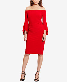 Lauren Ralph Lauren Petite Off-The-Shoulder Sheath Dress