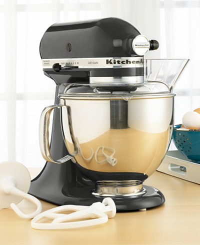 Kitchenaid ksm150ps stand mixer 5 qt artisan in caviar electrics kitchen macy 39 s - Kitchenaid artisan qt stand mixer attachments ...