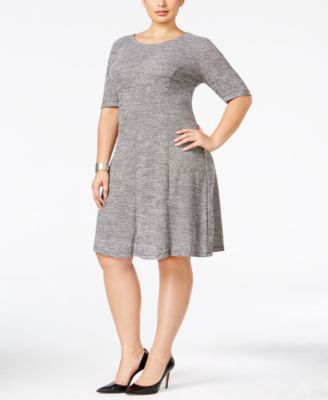Connected Plus Size Knit A-Line Dress