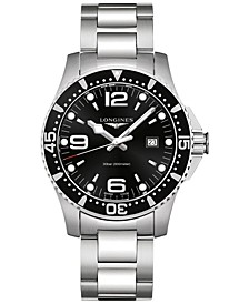 Men's Swiss HydroConquest Stainless Steel Bracelet Watch 44mm L38404566