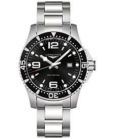 Longines Men's Swiss HydroConquest Stainless Steel Bracelet Watch 44mm L38404566