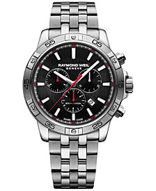 RAYMOND WEIL Men's Swiss Chronograph Tango Stainless Steel Bracelet Watch 43mm 8560-ST2-20001