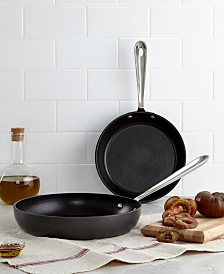 "All-Clad Hard Anodized 8"" & 10"" Fry Pan Set"