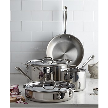 All-Clad Tri-Ply Stainless Steel Cookware Set