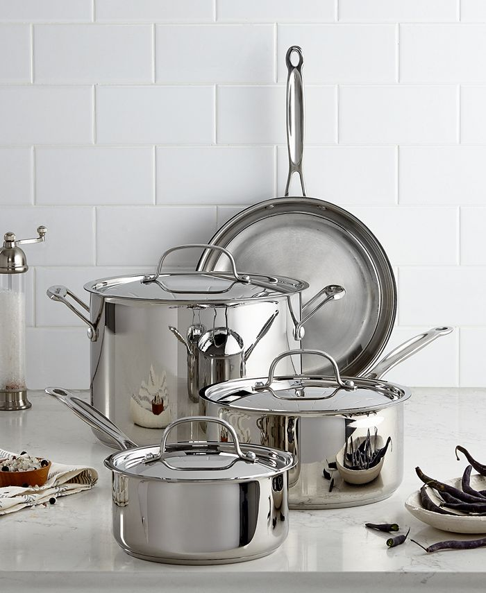 Cuisinart - Chef's Classic Stainless Steel 7-Piece Cookware Set