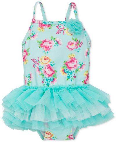 Little Me 1-Pc. Floral-Print Tutu Swimsuit, Baby Girls (0-24 months)