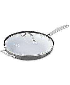 "Calphalon Classic Ceramic 12"" Fry Pan with Lid"