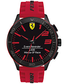 Ferrari Men's Analog-Digital Scuderia XX Ultraveloce Red Silicone Strap Smart Watch 48mm 0830376