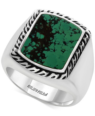 Effy 174 Men S Manufactured Turquoise Ring 3 9 10 Ct T W
