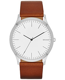 Men's Light Brown Leather Strap Watch 41mm SKW6331