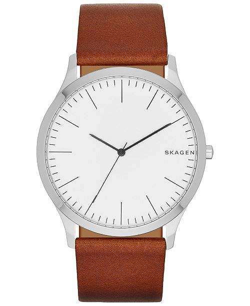 pinterest women fancy aa skagen on strap anita analog images brown s light watch best leather watches liked
