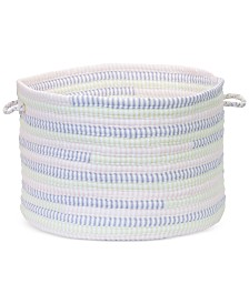 """Colonial Mills 12"""" x 8"""" Multicolor Ticking Fabric Basket"""
