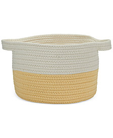"Colonial Mills 15"" x 12"" Two-Tone Strap Storage Basket"