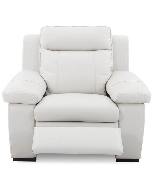 Furniture Closeout Zane Leather Manual Recliner