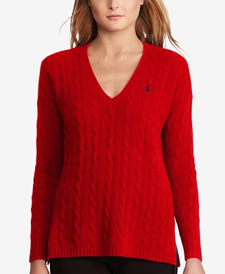 Polo Ralph Lauren Cable-Knit Sweater - Sweaters - Women - Macy's
