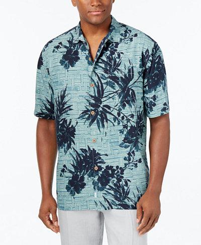 Tommy bahama men 39 s bamboo island silk shirt casual for Bamboo button down shirts