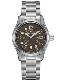 Hamilton Men's Swiss Khaki Field Stainless Steel Bracelet Watch 38mm H68201193
