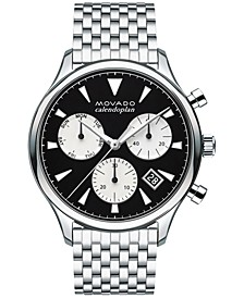 Men's Swiss Chronograph Heritage Stainless Steel Bracelet Watch 43mm 3650014