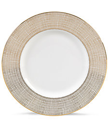 Vera Wang Wedgwood Gilded Weave Gold Accent Plate