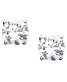 Giani Bernini 18k Gold over Sterling Silver Cubic Zirconia Stud Earrings (1 ct. t.w.)