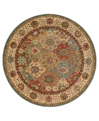 "Area Rug, Created for Macy's, Persian Legacy PL01 Multi 5' 10"" Round"