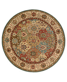 "Nourison Area Rug, Created for Macy's, Persian Legacy PL01 Multi 5' 10"" Round"