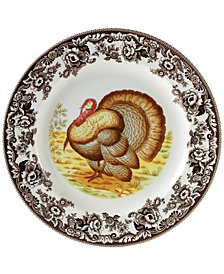 "Spode ""Woodland"" Turkey Dinner Plate"