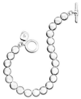Silver-Tone Bead (8 mm) Bracelet