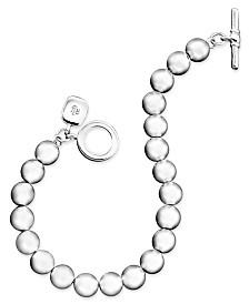 Lauren Ralph Lauren Silver-Tone Bead (8 mm) Bracelet