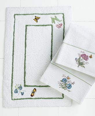 lenox bath accessories butterfly meadow bath rug