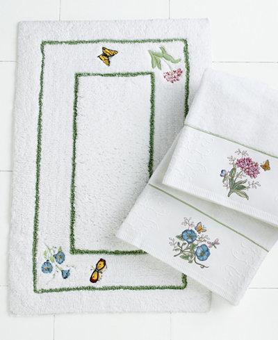Lenox Bath Accessories, Butterfly Meadow Bath Rug