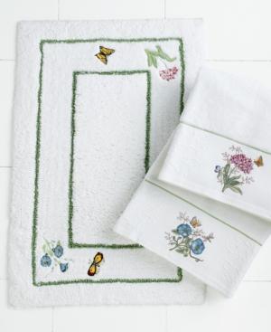 Lenox Bath Accessories, Butterfly Meadow Bath Rug Bedding