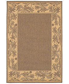"CLOSEOUT! Couristan Area Rug, Recife Indoor/Outdoor 1222/0722 Island Retreat Beige-Natural 7' 6"" Square"
