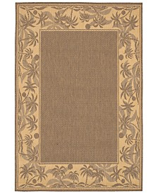 "CLOSEOUT! Couristan Area Rug, Recife Indoor/Outdoor 1222/0722 Island Retreat Beige-Natural 8' 6"" Round"