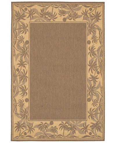 CLOSEOUT! Couristan Area Rug, Recife Indoor/Outdoor 1222/0722 Island Retreat Beige-Natural 8' 6