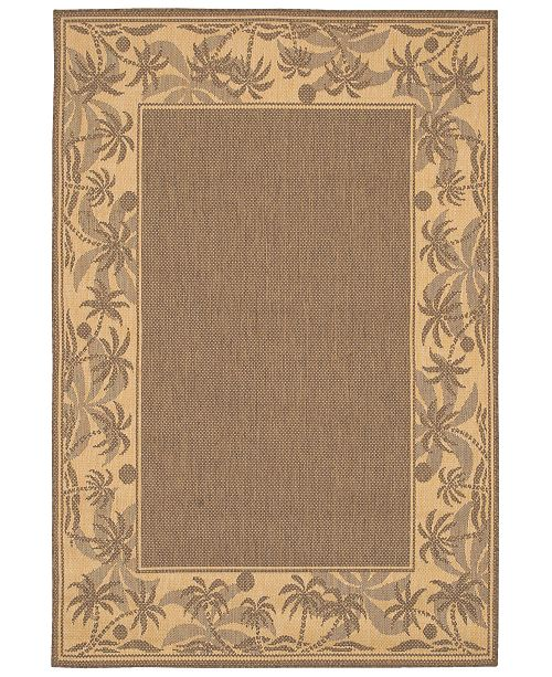 "Couristan CLOSEOUT! Area Rug, Recife Indoor/Outdoor 1222/0722 Island Retreat Beige-Natural 2' 3"" x 7' 10"" Runner"