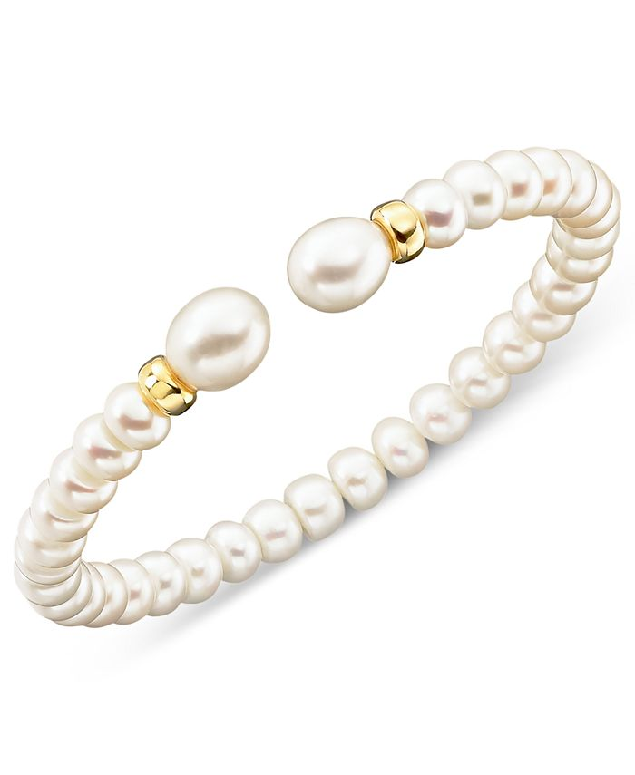 Macy's - Cultured Freshwater Pearl (7mm) Rondelle Bracelet in 14k Gold