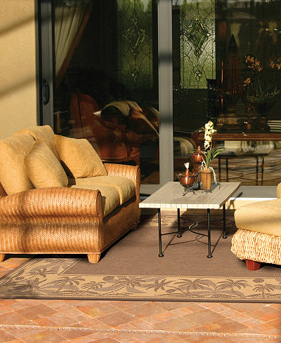 CLOSEOUT! Couristan Rugs, Recife Indoor/Outdoor 1222/0722 Island Retreat Beige-Natural