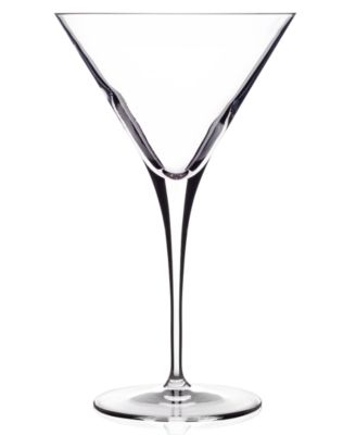 Glassware, Set of 4 Crescendo Martini Glasses