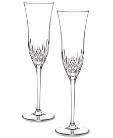 Stemware, Lismore Essence Toasting Flutes, Set of 2