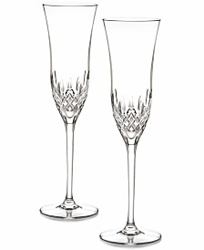 Waterford Stemware, Lismore Essence Toasting Flutes, Set of 2