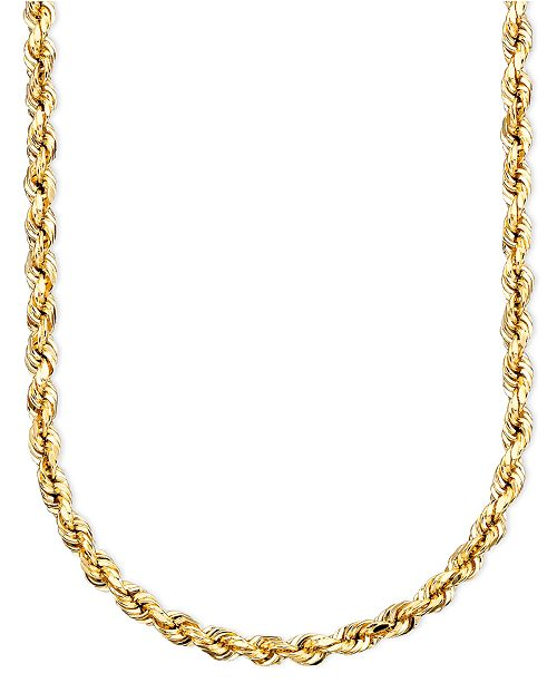 solid dp necklace men chain rope gold yellow diamond s cut