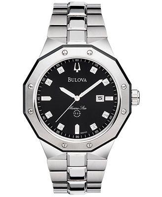 Bulova Men's Stainless Steel Bracelet Watch 44mm 98D103